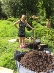Vorbereitung Erdbegräbnis vom geliebten Haustier