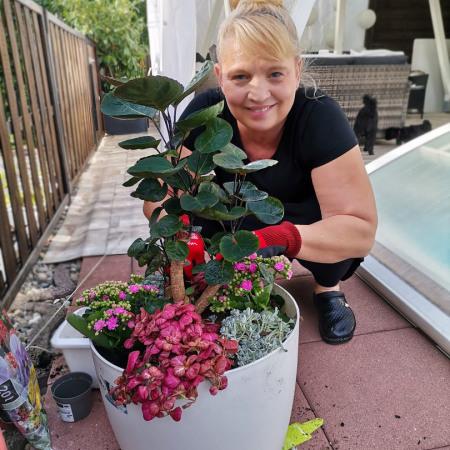 Ihre Zimmergrabpflanze als Gedenkstätte Ihres geliebten Haustieres ist fertig gepflanzt